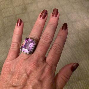 Lavender cocktail ring